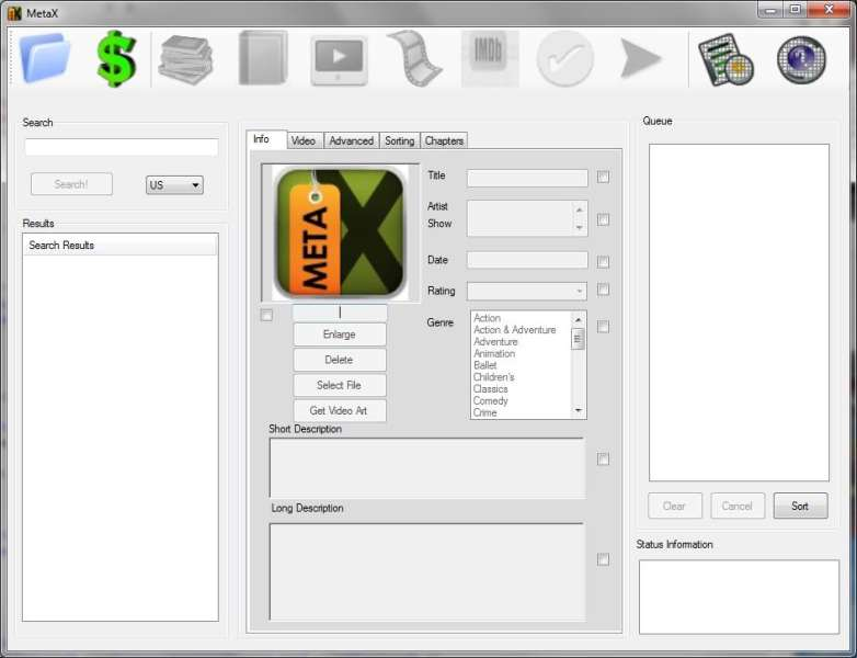 Click to view MetaX 2.56 screenshot